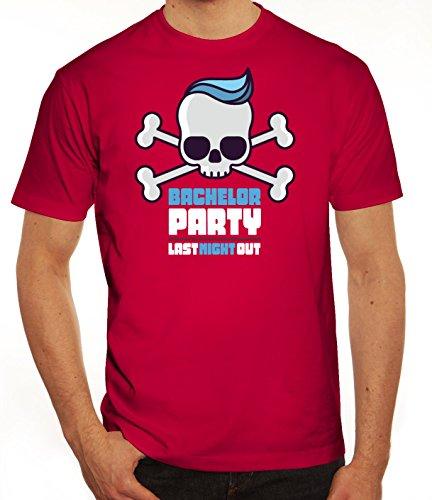 Junggesellenabschieds JGA Hochzeit Herren T-Shirt Skull - Bachelor Party Sorbet