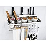 Edelstahl Küchenregal, Wandregale, Lagerregale, Messer Racks, Anhänger 304 Gewürze Gewürze Shelf40cm (größe : 50 cm)