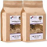 Kaffee Globetrotter - Kaffee Mit Herz - Panama Boquete Casa Ruiz - 2 x 1000 g Mittel Gemahlen - für Kaffee-voll-automat, Kaffeemühle - Röstkaffee Fair Gehandelt | Nachfüllpack Sparpack