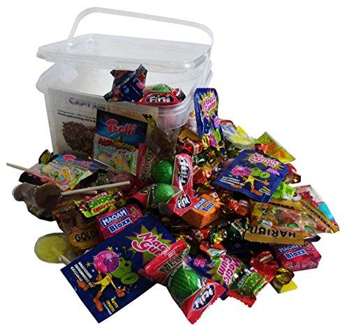 Süßigkeiten u2013 Mix Party Box ohne Schokolade 192-teilig, für Kindergeburtstag mit 6 Kinder, 1er Pack (1 x 1 kg)