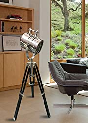 The Brighter Side Chrome finish mini spot Tripod lamp - Good Quality nautical lamp for home and office