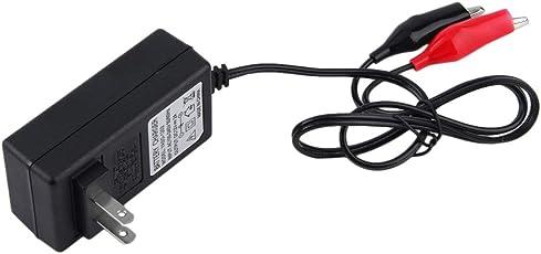 Funnyrunstore Multi farbige LED-Anzeige 12V 2A versiegelte Blei-Säure-Akku-Ladegerät für 12V Auto und Motorrad Batterie (schwarz)