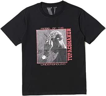 Nice t Shirt Big V Printed T Shirt Hip Hop Commemorative Figure Portrait Printing Cotton Round Neck Cotton Tee