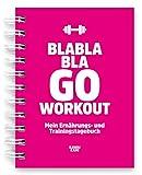 KAWAI-KAMI Trainings-Tagebuch & Ernährungs-Tagebuch für Krafttraining, Fitness-Studio, Sport, Diät; mit Erfolgskontrolle; 200 Seiten DIN-A6; Pink