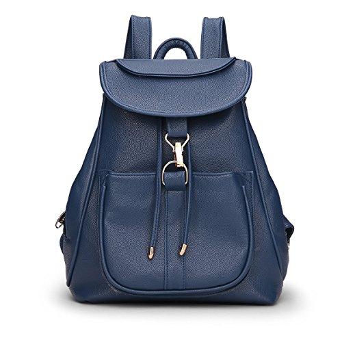 Dissa® S700 Damen 2018 Mode PU Rucksackhandtaschen,Umhängetaschen,28x33x16(BxHxT) Blau