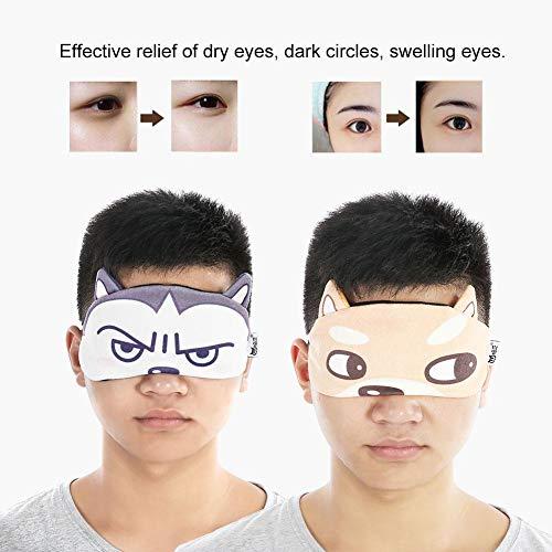 Augenmaske Schlafen Gel Nylon Lidschatten Kalt oder Warm Therapie, Abdeckung Einstellbare Augen Schatten Abdeckung Augenbinde Augenklappe(02+03) -