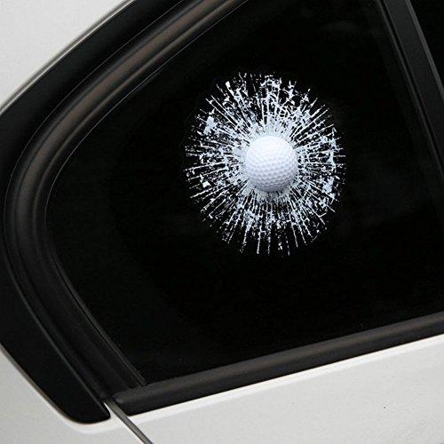 Preisvergleich Produktbild 2018 Kreative Lustige 3D  Bälle Aufkleber Autoaufklebe Golf tennis ball Hits Auto Fenster Sticker