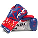 Rival RFX-Guerrero Lace Up Pro Boxing Gloves - Blue Red 8oz