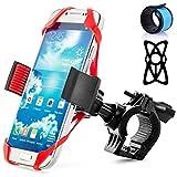 Senhai universale Bike staffa di montaggio per il GPS del telefono cellulare, con 2 elastici e 1 LED blu Snap Bracelet, della bicicletta del motociclo del manubrio del supporto del telefono Bike Rack per iPhone Samsung Xiaomi Blackberry HTC Nexus LG