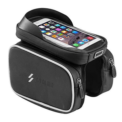 JLWDD Soporte de teléfono móvil de Carga inalámbrica para Motocicleta Impermeable a...