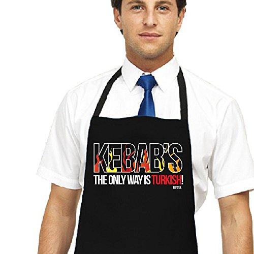 türkischen Kebap Shop Schürze, The Only Way Is Türkisch, Türkische Döner, Kebap Uniform Schwarz BBQ kepster Schürze