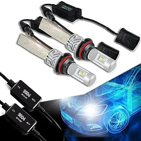 2x 9004 HB1 LED Scheinwerfer Birne Nachrüstsatz Set Headlight Frontscheinwerfer (Oldsmobile Silhouette Scheinwerfer Scheinwerfer)
