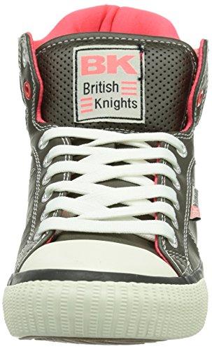 British Knights  ATOLL, Baskets pour femme Gris - Grau (Dk. Grey-Neon Pink01)