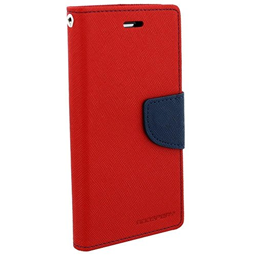 The Ananya Mercury Wallet Flip Cover for HTC Desire 816(Red)