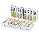EBL 16 Pack AA Rechargeable...