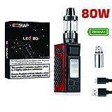 E Cigarette Starter Kit, Vape Pen 80W Box MOD Kit with Rechargeable 2000mah