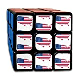 USA Flag Overlay_1088 3x3 Magic Speed Cube Smooth Speed Magic Rubik Cube Puzzles Toys