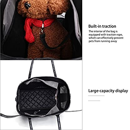 Royal Want Lightweight Leather Pet Carrier Crate with Removable Mat for Dog Cat Rabbit,Handbag and Shoulderbag,Fashion… 7