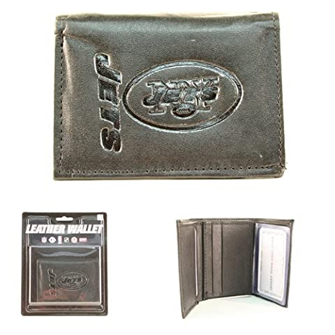 New York Jets Black Leather Tri-fold