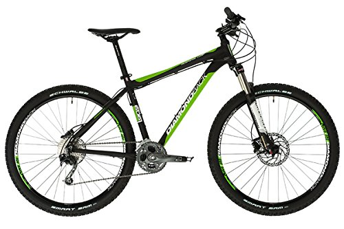Diamondback Response Comp - Bicicleta de Cross Country, Color Negro/Verde, 20'