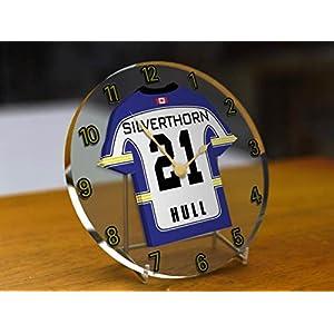 MyShirt123 Elite Ice Hockey League Jersey Desktop Uhren–Jeder Name, beliebige, jedes Team, kostenlose Personalisierung.