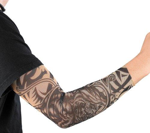 infactory Tattoo Ärmel: Tattoo-Armling Wild Tribals (Tattoo-Armlinge für Verkleidungen)