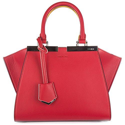 Fendi Leder Handtasche Damen Tasche Bag mini 3jours Rot (Fendi Mini)