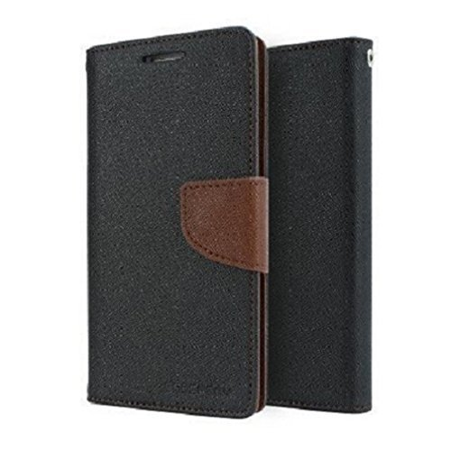 Mercury synthetic leather Wallet Magnet Design Flip Case Cover for Samsung Galaxy Grand 2 G7102 G7106- Black Brown