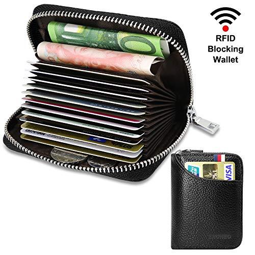 943ec098fd1 Tarjetero para Tarjetas de Crédito para Hombre Mujer RFID Titular de la  Tarjeta de Crédito de Cuero con 13 Ranuras para Tarjetas y 2 Ranuras de  Moneda ...