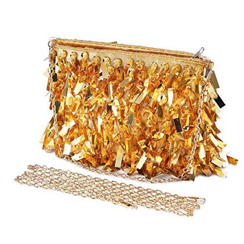 03dceb07d3 Pochette Donna Borsa da sera Borse Cerimonia Eleganti Clutch Piccolo  paillettes Borsa a Catena Per Nozze