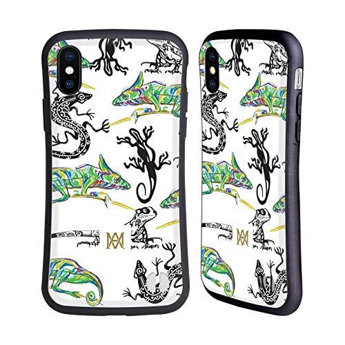 Head Case Designs Offizielle Marie-Antoinette Eidechsen Der Garten Hybride Huelle kompatibel mit iPhone X/iPhone XS (Marie Antoinettes Garten)