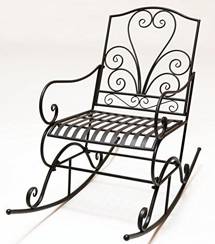 Mecedora Hierro Corazón de diseño de marrón oscuro vintage Relax Silla silla de metal muebles de jardín jardín