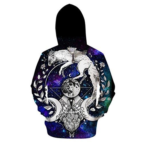 Moon Child Decke von Pixie kalte Kunst 3D-Tier Zip Hoodie Men Zipper Hoody Casual Sweatshirt Groot Trainingsanzug Pullover Tropfenschiff Zip 414S