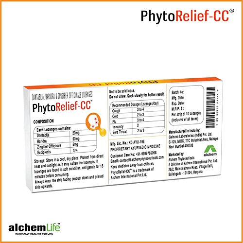 4% OFF on Alchem Life Phytorelief-CC-Natural Relief From Cold 3f63278edbe0c