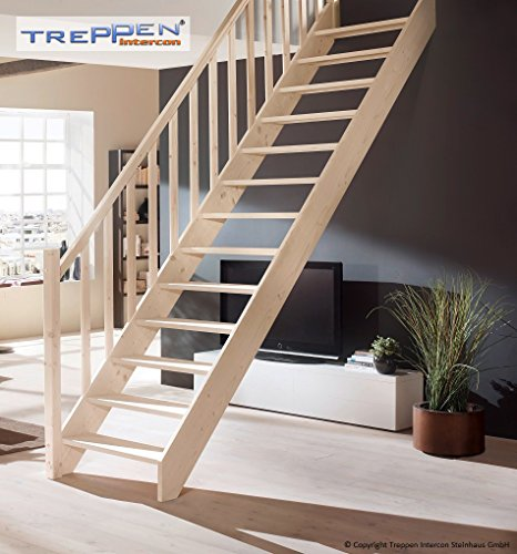Profigold Space Saver Staircase Kit Savoy Solid Beech Wood Posts Rail/Spruce