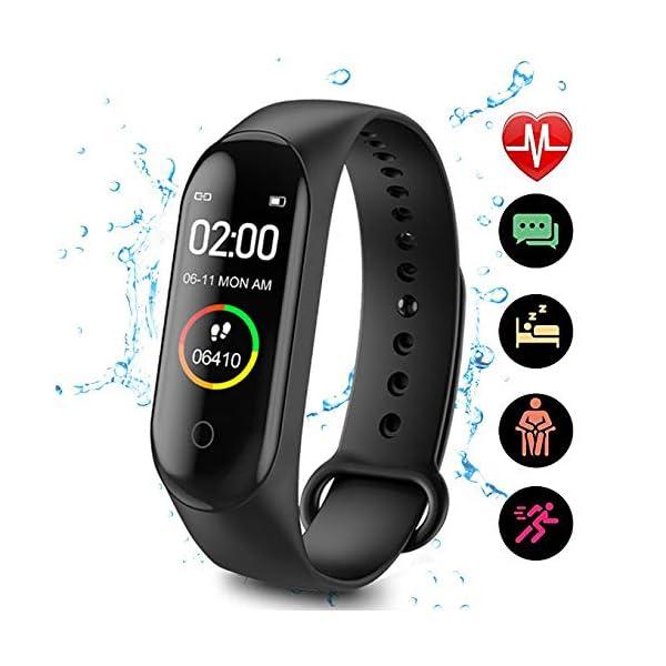 CHUANGE Fitness Tracker HR, Reloj de Seguimiento de Actividad con Monitor de frecuencia cardíaca, Banda de Fitness Inteligente a Prueba de Agua con Contador de Pasos, Adecuado para niños y niñas. 1
