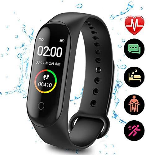 CHUANGE Fitness Tracker HR, Reloj de Seguimiento de Actividad con Monitor de frecuencia cardíaca, Banda de Fitness… 1