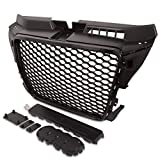 RS Style Black Debadged Badgeless Sport Mesh Grill Grill