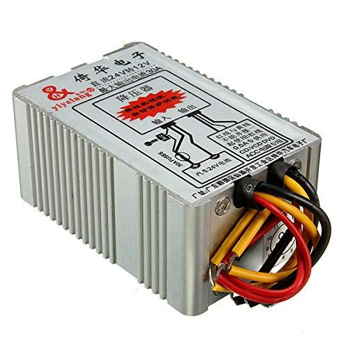 GIlH 24V to 12V 30A Car Power Supply Inverter Converter Conversion Device -