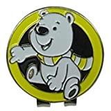 Senoow Cute Cartoon Bär Metall Golfball Marker mit Magnetischen Hut Cap Clip Zubehör