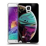 Head Case Designs Hizze Und Kaelte Acryl Giessende Planeten Soft Gel Hülle für Samsung Galaxy Note 4