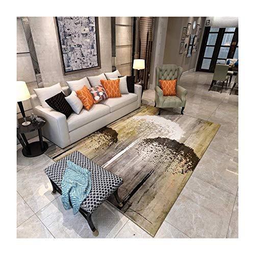 ch Abstrakt Schwarz und Weiß 3D Gedruckter Teppich mit hoher Dichte Geeignet für Familien Wohnzimmer Schlafzimmer, 160 cm (H) X 240 cm (W) ()