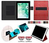reboon Hülle für Blaupunkt Endeavour 1010 Tasche Cover Case Bumper | in Rot Leder | Testsieger