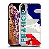 Head Case Designs France Drapeaux Et Monuments Coque Dure pour l'arrière Compatible avec iPhone XR