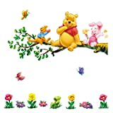 ZuoLan PVC Stickers Winnie The Pooh Removable Wall Stickers Wall Decal DIY Decorative Room Nursery (#B)