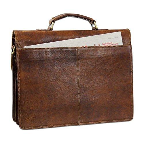 STILORD Classica cartella ventiquattrore in pelle da uomo Valigetta 24 ore vintage marrone con tracolla e manico Design retrò Marrone