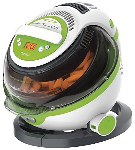An image of the Breville VDF105 Halo Plus Health Fryer - White/Green