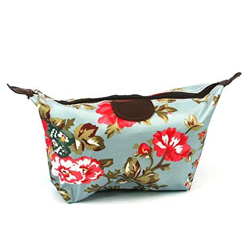 Classic Vintage Tea Rose Garden Design Print Leicht Urlaub/Wochenende Wash Bag/Make-up Bag/Compact WC (Bag Wash Wochenende)