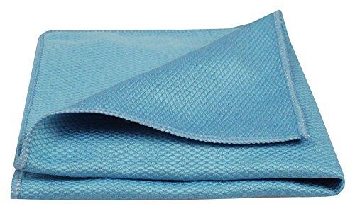 bellanet Microfaser-Glastücher | ultradichte, feine und weiche Mikrofasern | qualitative Mikrofaser-Reinigungstücher für Fenster, Spiegel, Glas, Küche, Bad, Auto | 1 Stück (blau)