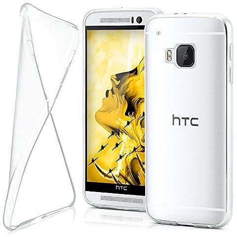 HTC One M9 Hülle Silikon Transparent Klar [OneFlow Clear Back-Cover] TPU Schutzhülle Dünn Handyhülle für HTC One M9 Case Ultra-Slim Silikonhülle Rückseite